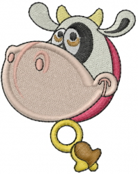 Cow Head embroidery design