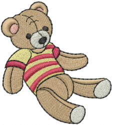 Teddy embroidery design