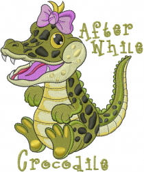 After While Crocodile embroidery design