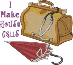 House Calls embroidery design