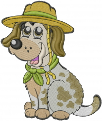 Dog Scout embroidery design