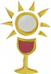 Communion Chalice embroidery design