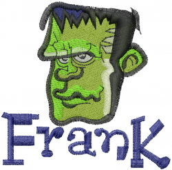 Frank embroidery design