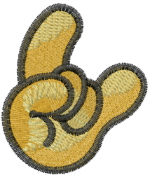 Hand Sign embroidery design
