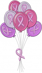 Cancer  Balloons embroidery design