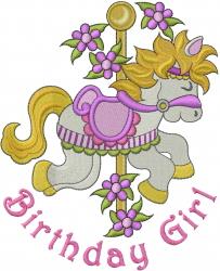 Birthday Girl embroidery design