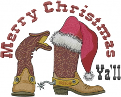 Merry Christmas Yall embroidery design