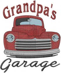 Grandpa's Garage embroidery design