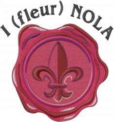 I Fleur NOLA embroidery design