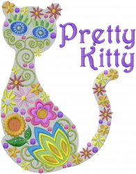 Pretty Kitty embroidery design