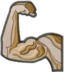 Bicep Muscle embroidery design