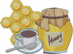 Honey Tea embroidery design