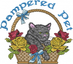 Pampered Pet embroidery design