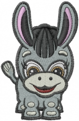 Little Donkey embroidery design