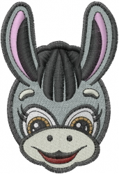 Little Donkey Head embroidery design