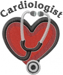 Cardiologist embroidery design