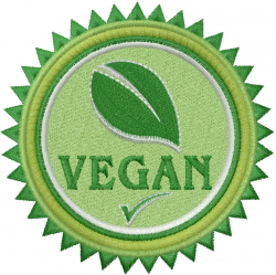 Vegan embroidery design