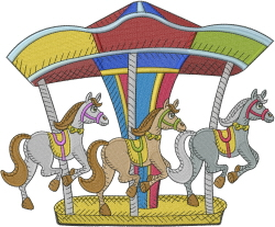 Carousel embroidery design