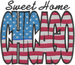 Sweet Home Chicago embroidery design