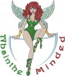 Absinthe Minded Fairy embroidery design