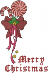 Christmas Candy Cane embroidery design