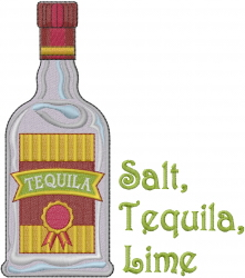 Mexico Bottle embroidery design
