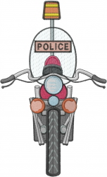 Motorcycle Police embroidery design