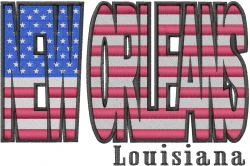 New Orleans Flag embroidery design