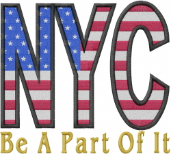 NYC Flag embroidery design