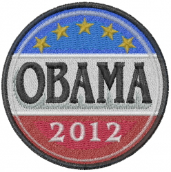 Obama 2012 embroidery design