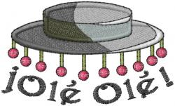 Flamenco Hat ¡Ole Ole embroidery design