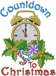 Countdown Clock embroidery design