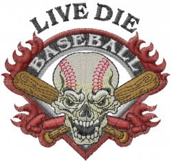 Live Die embroidery design