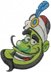 Genie Head embroidery design