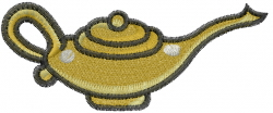 Genie Lamp embroidery design