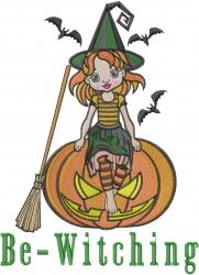 Be Witching embroidery design