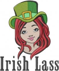Irish Lass embroidery design