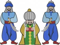 Sultan & Guards embroidery design