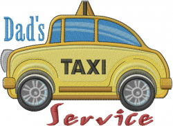 Dads Taxi Service embroidery design