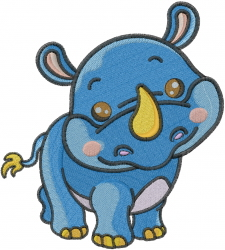 Baby Rhinocerous embroidery design
