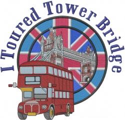 Tower Bridge embroidery design
