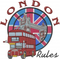 London Rules embroidery design