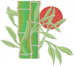 Chinese Bamboo embroidery design