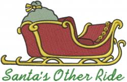 Santa Ride embroidery design