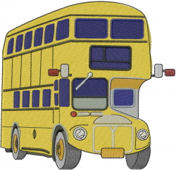 Double-Decker Bus embroidery design