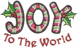 World Joy embroidery design