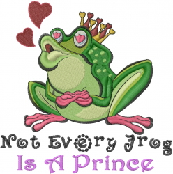 Frog Valentine embroidery design