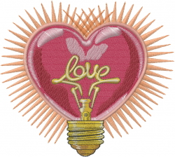 Love Light embroidery design