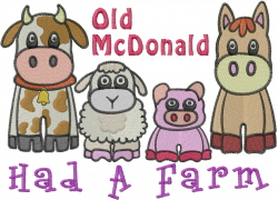 McDonald Animals embroidery design