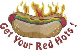 Red Hots embroidery design